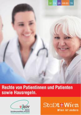 Rechte von Patientinnen und Patienten sowie Hausregeln.