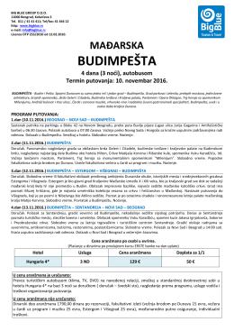 budimpešta - Turistička agencija Big Blue
