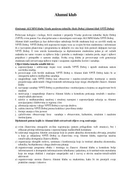 Alumni klub - VPTS Doboj
