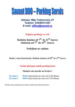 Mije Todorovića 27 Telefon: 034/6814 847 E