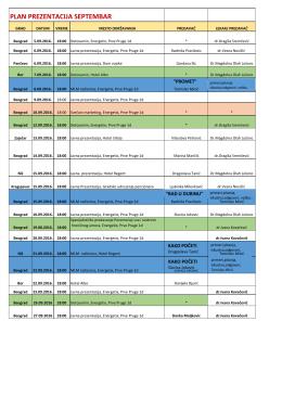 Plan prezentacija