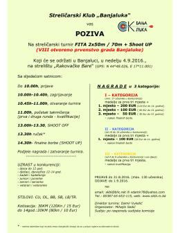 """poziva - Streličarski klub """"Banjaluka"""""""