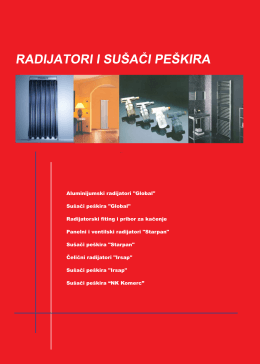 Radijatori i sušači peškira
