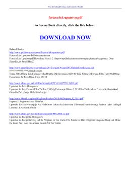 forteca lek uputstvo pdf