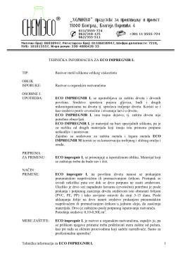 Preuzmi tehničku informaciju za ECO IMPREGNIR L u