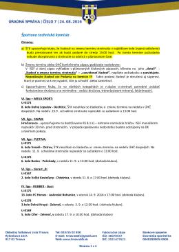 ÚS č - Oblastný futbalový zväz Trnava