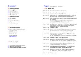 Program - Fórum pre komunikačné technológie