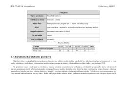 Predmet 1. Charakteristika učebného predmetu