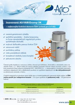 Inovovaná AS-VARIOcomp 5K - ASIO