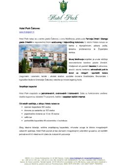 Škola u prirodi - Hotel Park Čakovec