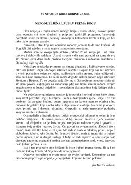 23. Nedjelja kroz godinu - Župa i svetište sv. Antuna Padovanskoga