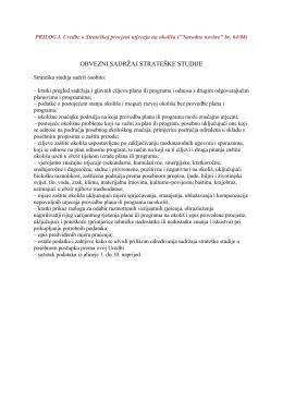 Obvezni sadržaj SSUO po Uredbi o SPUO