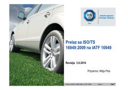 Prelaz sa ISO/TS 16949:2009 na IATF 16949