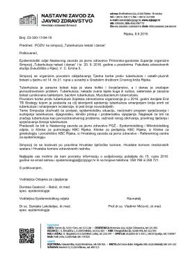 Tuberkuloza nekad i danas - Nastavni Zavod za javno zdravstvo PGŽ