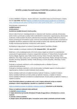 Erasmus+ natječaj