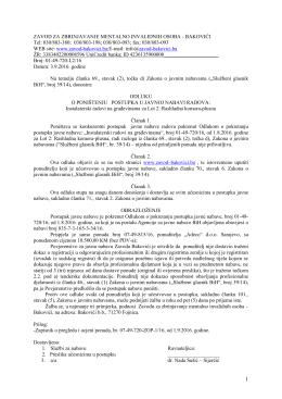 Odluka o poništenju broj 01-49-720-L2/16 od 3.9.2016.