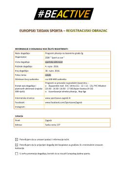 Programi plivanja na bazenima grada Zagreba, Zagreb