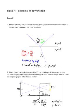 Fizika 4 Večernja priprema za test