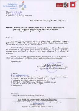 Ktasa: )rb-o+ )fe I /l rl - Opća bolnica Dr. Tomislav Bardek, Koprivnica