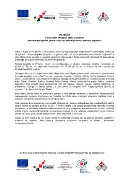 izvješće - Hrvatski zavod za zapošljavanje