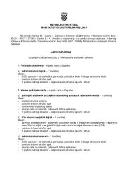 REPUBLIKA HRVATSKA MINISTARSTVO UNUTARNJIH - MUP-a