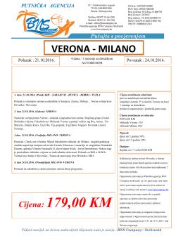 Verona – Milano