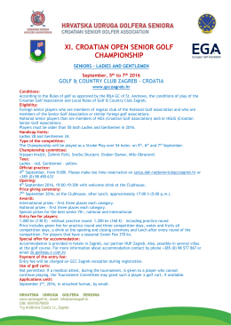 xi. croatian open senior golf championship