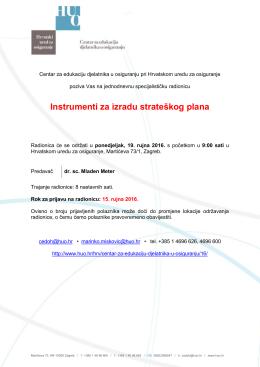 Instrumenti za izradu strateškog plana