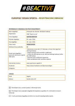 Kretanjem do zdravlja - Europski tjedan sporta