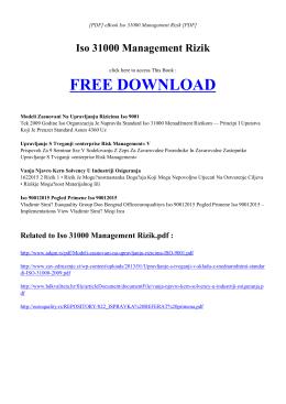 eBook ISO 31000 MANAGEMENT RIZIK PDF