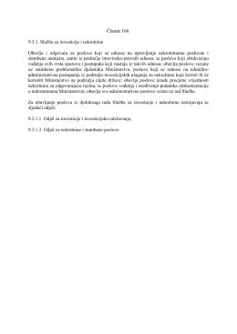 Članak 166. 9.3.1. Služba za investicije i nekretnine - MUP-a