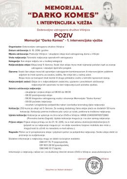 Poziv na natjecanje u pdf formatu - Dobrovoljno vatrogasno društvo