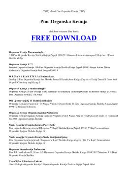 eBook PINE ORGANSKA KEMIJA PDF