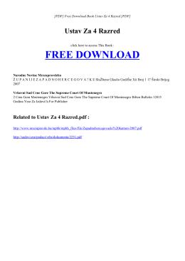 Free Book USTAV ZA 4 RAZRED PDF