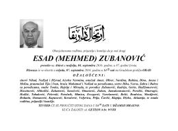 ESAD (MEHMED) ZUBANOVIĆ