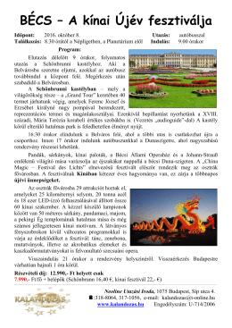Részletes program - Kalandozastravel.hu