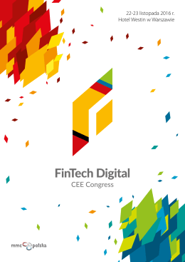 Pobierz broszurę - FinTech Digital Congress CEE