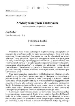 Filozofia a nauka