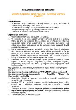 regulamin szkolnego konkursu - Zespół Szkół Zawodowych Nr 1 im