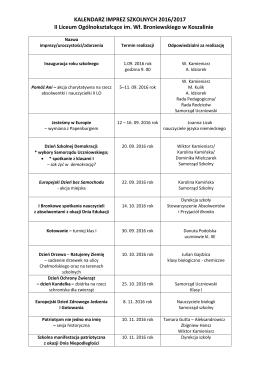 Imprezy i uroczystości szkolne - II LO im. Wł. Broniewskiego w