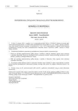 Zgłoszenie zamiaru koncentracji (Sprawa M.8099 – Nissan