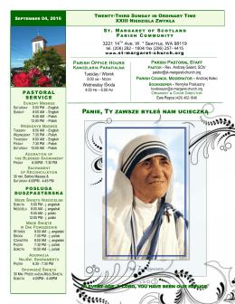 Mother Teresa Canonization - Parafia św. Małgorzaty Szkockiej w