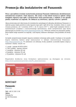 Promocja dla instalatorów od Panasonic
