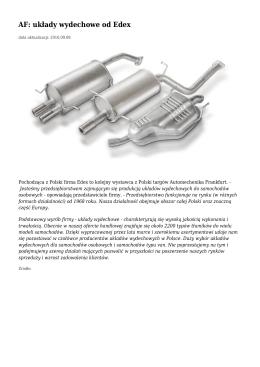 AF: układy wydechowe od Edex