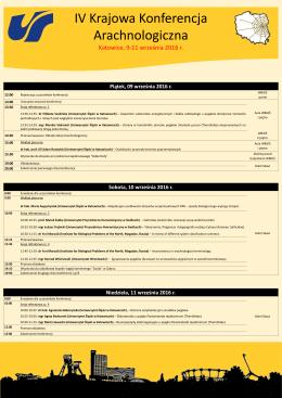 Program IV Krajowej Konferencji