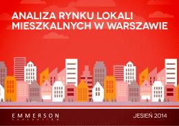 Analiza rynku lokali mieszkalnych w Warszawie