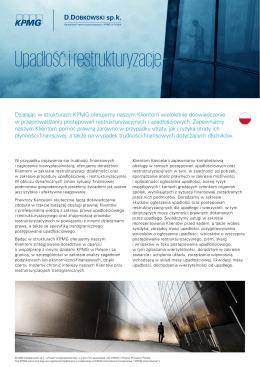 Upadłość i restrukturyzacje - D.Dobkowski sp.k. stowarzyszona z