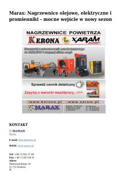 Marax: Nagrzewnice olejowe, elektryczne i
