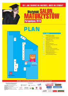Plan stoisk - Salon Maturzystów