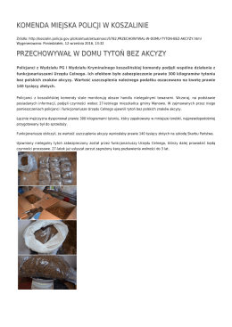 Generuj PDF - Komenda Miejska Policji w Koszalinie